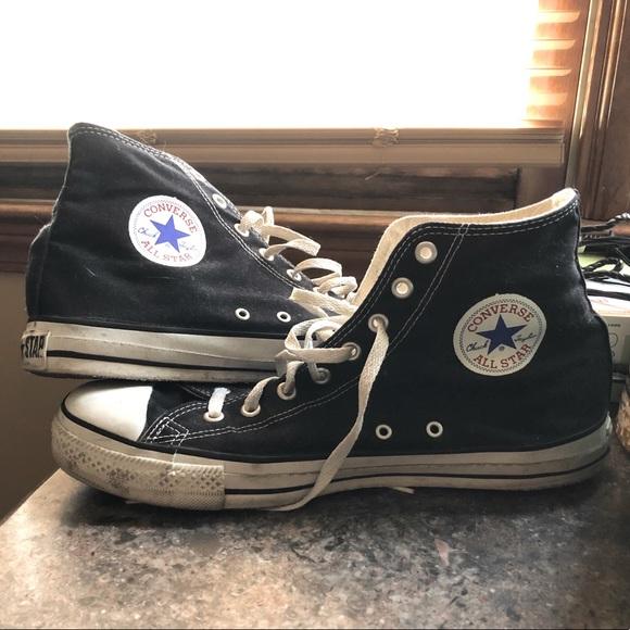 USA Black Chuck Taylor Converse High-Top Shoes
